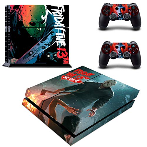 Decal Moments Regular PS4 Console Set Vinyl Skin Decal Stickers Protective for PS4 Playstaion 2 Controllers Halloween ()