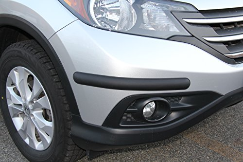Rhino Guard by BumpTek - (MEDIUM SIZE) - HEAVY DUTY Corner Car Bumper Guards - MADE IN EUROPE Bumper Protection - INCLUDES 4 BUMPER GUARD PIECES (MATTE BLACK)