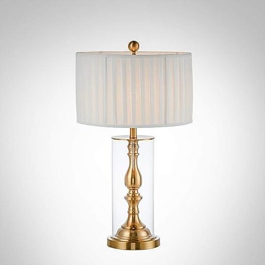 JYKJ Lámparas de Mesa LED, Vidrio de Cobre de imitación Europeo ...