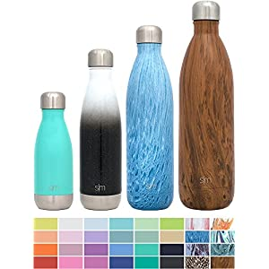 Simple Modern 25oz Wave Water Bottle - Vacuum Insulated Double Wall 18/8 Stainless Steel Hydro Swell Flask - Concept Collection - Aqua Rain