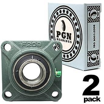 Amazon.com: PGN UCF208-24 - Cojín cuadrado con brida para ...