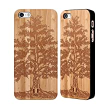 Head Case Designs Tree Wood Art Bamboo Wooden Back Case Cover for Apple iPhone 5 / 5s / SE