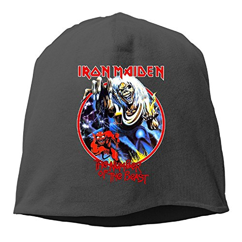 Jonmela Band Iron Maiden The Number of The Beast Invaders The Prisoner Wool Watch Cap ()