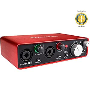 Focusrite Scarlett 2i2 Second Generation (2nd Gen) 2-in, 2-out USB Audio Interface with 1 Year Free Extended Warranty
