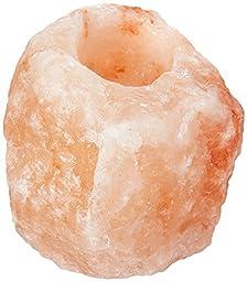 100% Himalayan Salt Natural Crystal Rock Tea Light Candle Holder