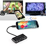 MHL To HDMI USB OTG Card Reader HDTV Adapter For Samsung S3/4/5 Note 2 3 4