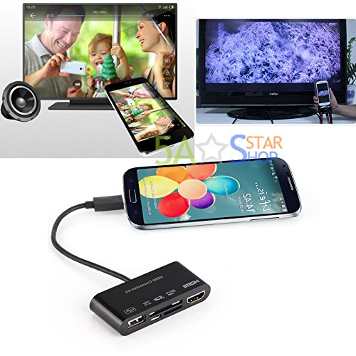 MHL To HDMI USB OTG Card Reader HDTV Adapter For Samsung S3/4/5 Note 2 3 4 (Sxs Reader Mac)