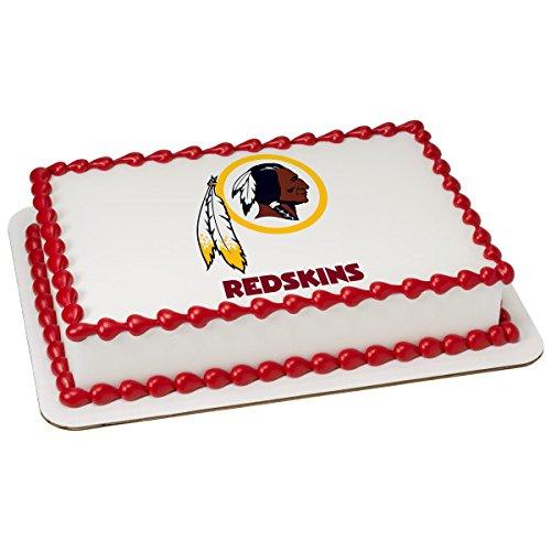 (NFL Washington Redskins Licensed Edible Sheet Cake Topper #4484)