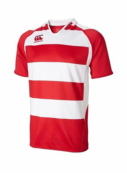 e9cda202f81 Amazon.com : Canterbury Hooped Challenge Jersey, Flag Red/White, X ...