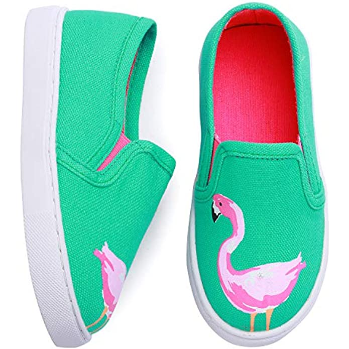 Minibella Toddler Boys Girls Sneakers Slip On Moccasins Casual Canvas Shoes Kid's Loafers