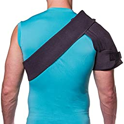 Shoulder Warmer Brace & Ice Wrap with 2 Hot / Cold Gels