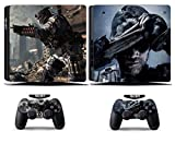 Cosines PS4 Slim Stickers Vinyl Decal Protective Console Skins Cover for Sony Playstation 4 Slim and 2 Controllers Call of Duty COD Ghosts