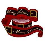 "Santa's Belt Merry Christmas Ribbon - 2 1/2"" x 10"