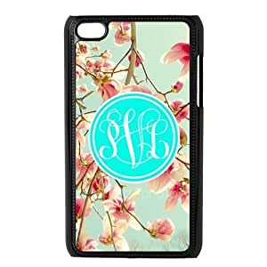 Cyan Circle Monogram Cursive Initials Japanese Cherry Blossom Beautiful luxury For Case Iphone 5C CoverALL MY DREAMS