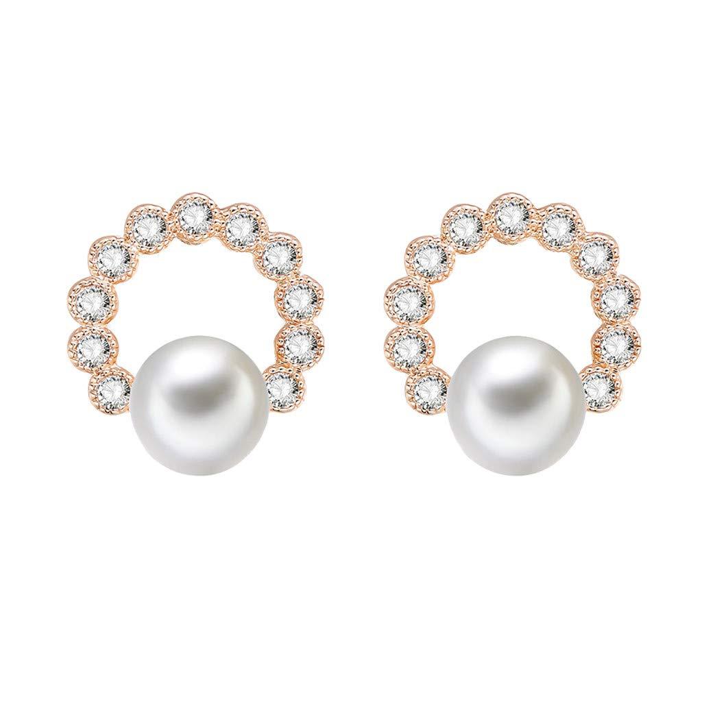 Oucan Girls Petal Alloy Earrings Ear Ring Simple Alloy Earrings