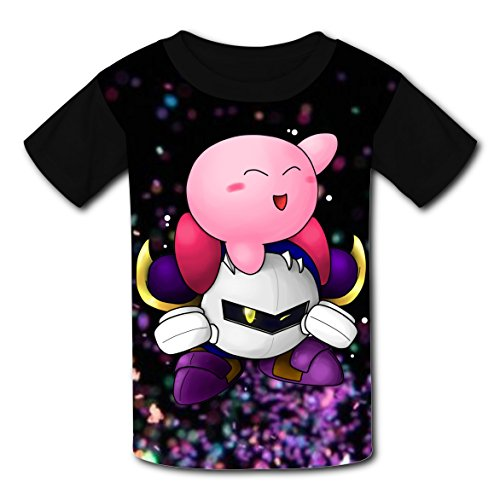 Price comparison product image Meta Cool Knightt Kirbiy Children Graphic Short Sleeve T-shirts Crew Neck Tops for Boys Girls S