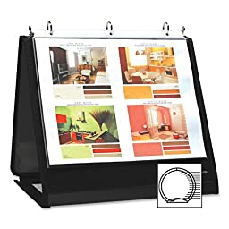 Lion Insta-Cover Ring Easel Binder - Letter - 8.5\
