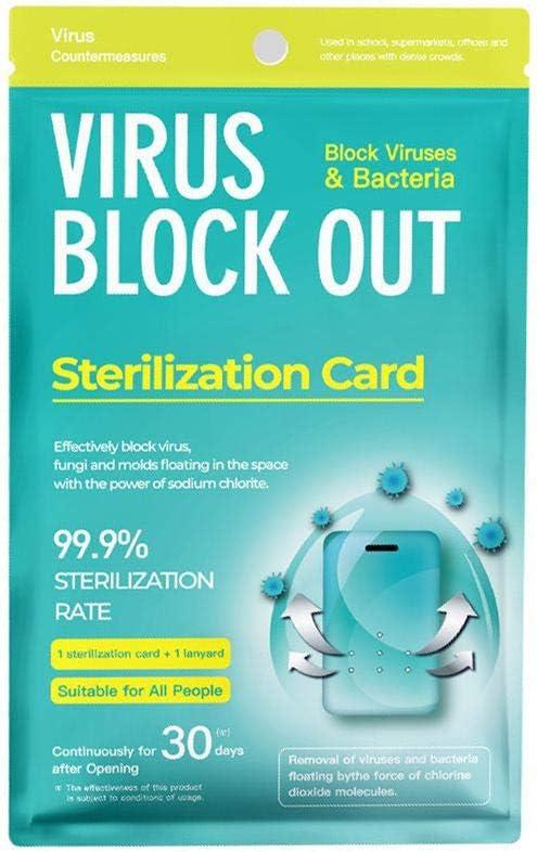 Godya - Tarjeta de desinfección para colgar en el cuello, purificador de aire, tarjeta de desinfección de espacio, tarjeta de purificación de aire con cordón para niños y adultos: Amazon.es: Hogar