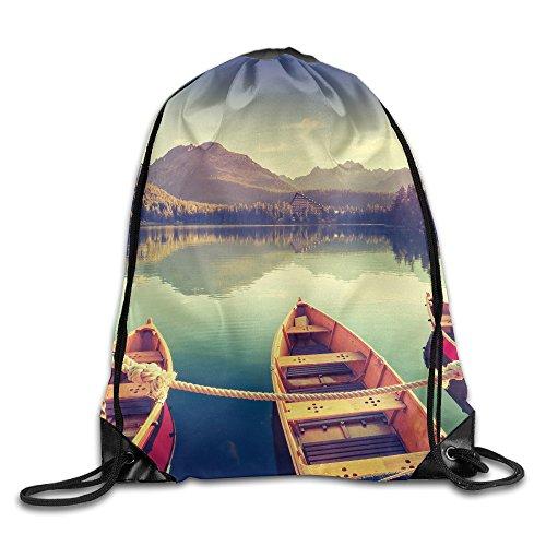 Boat Travel Personality Custom Beam Mouth Bags Sport Backpack Drawstring Print Bag