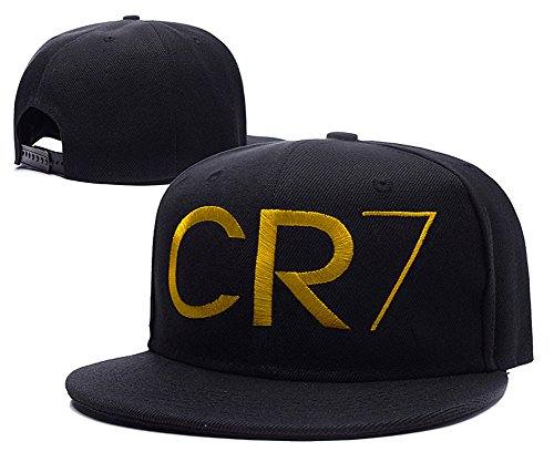 Cristiano Ronaldo CR7 Logo Adjustable Snapback Embroidery Hats Caps - Black  Gold - Buy Online in Oman.  6bbcb0c45245