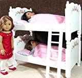 BEAUTIFUL DELUXE FLORAL 20″ DOLL BUNK / DOUBLE BED WITH PREMIUM BEDDING FOR AMERICAN GIRL ETC., Baby & Kids Zone