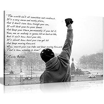 Amazon Com Fayfa Dawn Sky Rocky Balboa Motivational