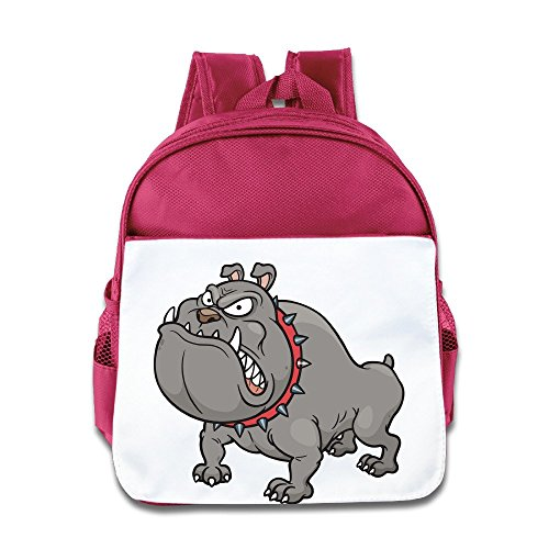 [XJBD Custom Cute Bully Pit Bull Kids Children School Bagpack For 1-6 Years Old Pink] (Alvin And The Chipmunks Costumes For Kids)