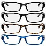 Reading Glasses 2.75 2 Black Tortoise Blue Fashion