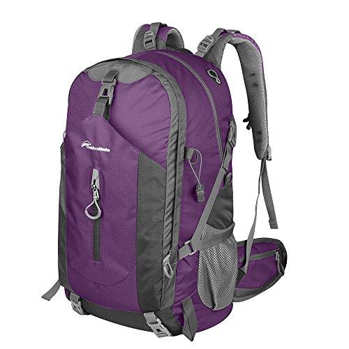 Travel Outdoor Computer Backpack Laptop Bag (Purple) - 4