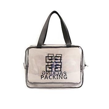 Amazon.com   Transparent Jelly Cosmetic bags Bath Wash bag Waterproof Large  capacity Simple Portable Makeup bags travel Toiletry bag for women-grayA ... a0df376463126