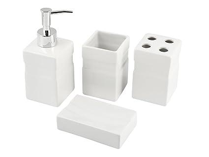 Home isabel set da bagno ceramica bianco amazon casa e cucina