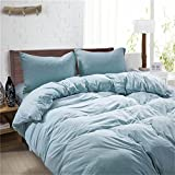 Cozy 4 Piece Bed Sheet Set 100 Knitted Cotton Durable 2 Colors Duvet Cover Fitted Sheets Pillowcases Twin Full Queen , 1 , queen