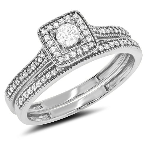 Set Diamond Bridal Eternity Band - 7