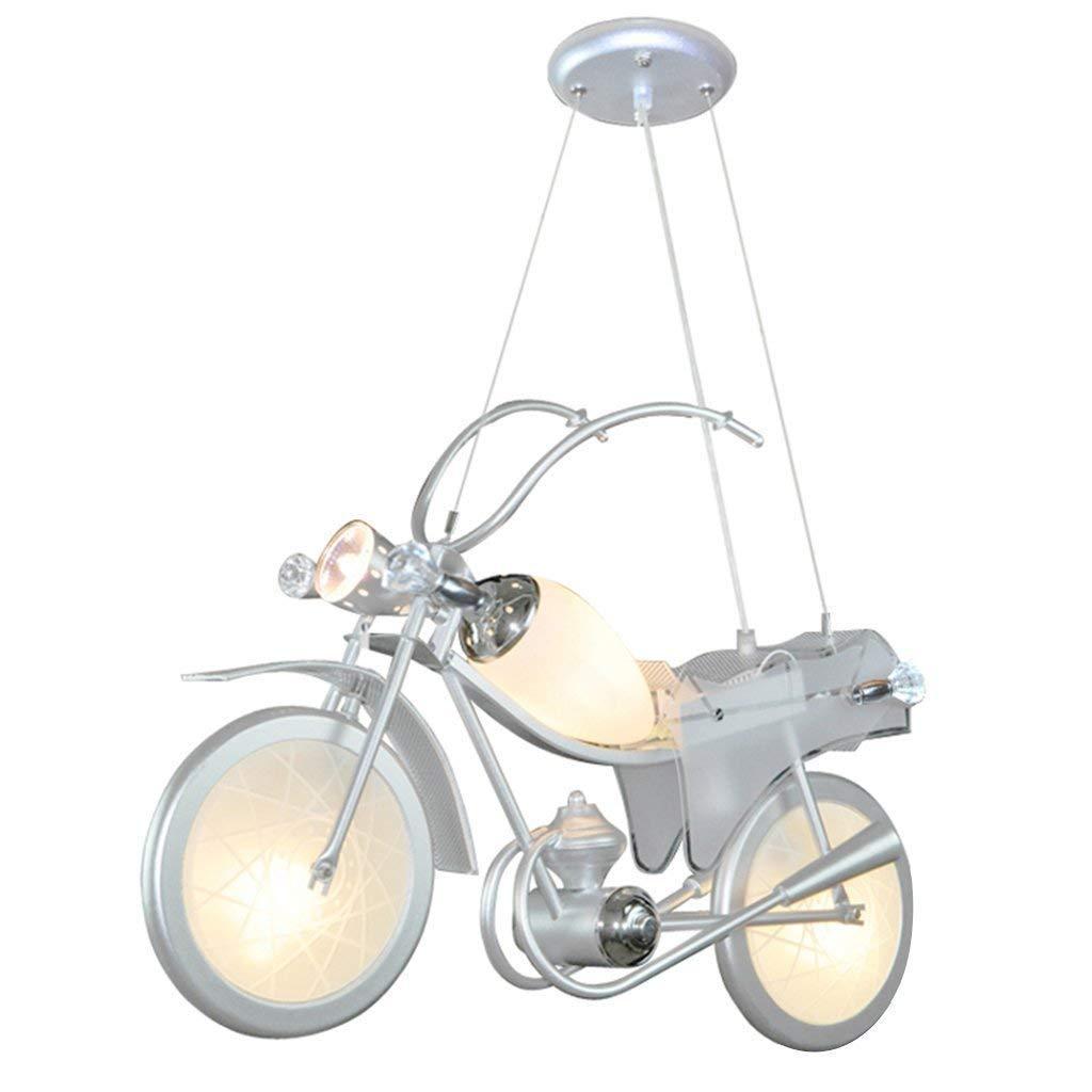 Hanamaki Lampe De Plafond Fer Lumière, Moto Lustre Corps Bar Comptoir Chambre Enfants Chambre 60 * 18 * 80 Cm Lumière Chaude [Classe énergétique A]
