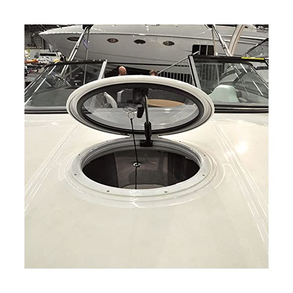 51MVLGyB7WL Waterline Design MOSKITONETZ Fliegengitter Insektenschutz für Boote – Innenmontage mit Magnet oder Saugnapf…