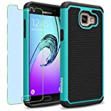 Samsung Galaxy A5 (2016) / A510F Case, INNOVAA Smart Grid Defender Armor Case (Not Compatible with Samsung Galaxy A5 (2015)) W/ Free Screen Protector & Touch Screen Stylus Pen - Black/Teal