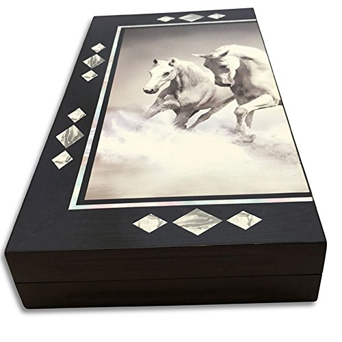 The 19'' Turkish Backgammon Board Game Set