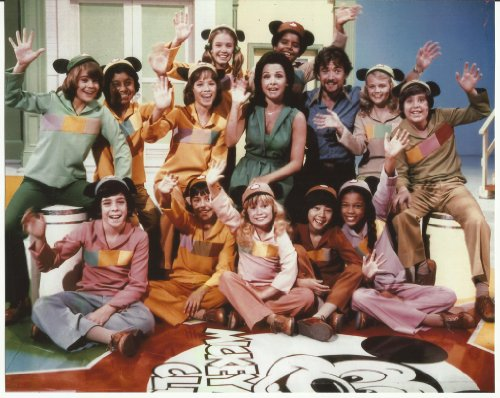 Annette Funicello with Mickey Mouse Club Mouseketeers & Lisa Whelchel Waving 8 x 10 Photo