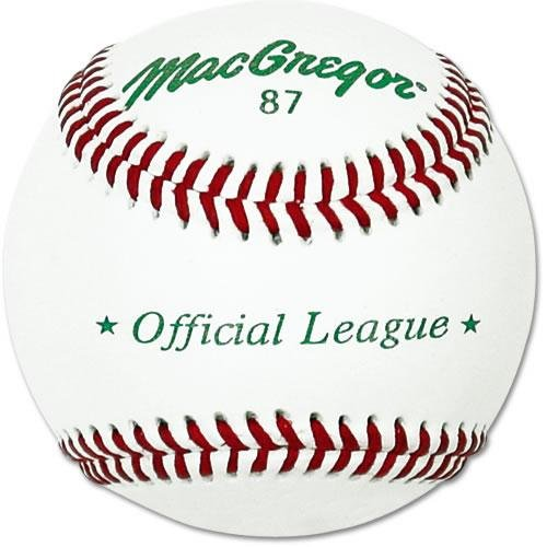 MacGregor 87 Official Split Baseball, Leather (One Dozen) (Macgregor Leather)