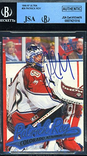 Patrick Roy Hand Signed (PATRICK ROY 1996 97 ULTRA HAND SIGNED JSA BECKETT ORIGINAL AUTHENTIC AUTOGRAPH)