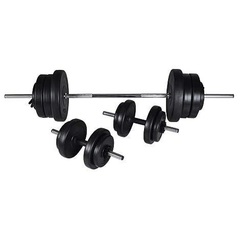 Festnight Banco Musculación Banco de Musculación Multifunción Ajustable Plegable Inclinable para Entrenamiento Completo con Soporte Pesas, ...