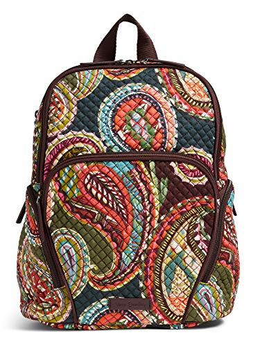 Vera Bradley Quilted Signature Cotton Hadley Backpack (Brown/Heirloom Paisley)