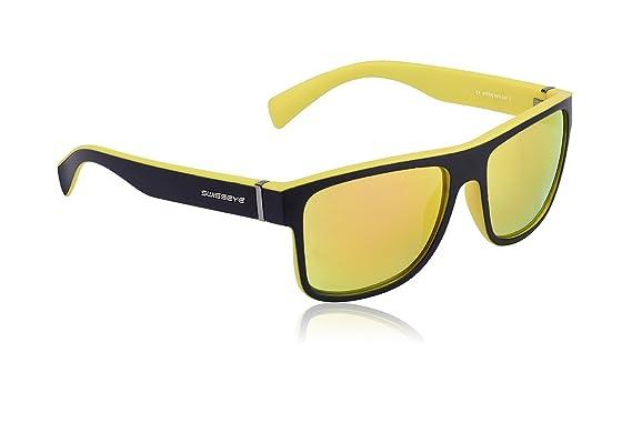 Original wählen gut kaufen neuesten Stil Swiss Eye Avenue sportlich verspiegelte Brille im Wayfarer Look mit  Antifog/Antiscratch-Beschichtung