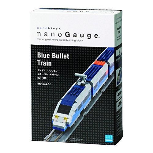 Nanoblock Bullet Train Building Blocks Kit (330 Piece), Blue ()