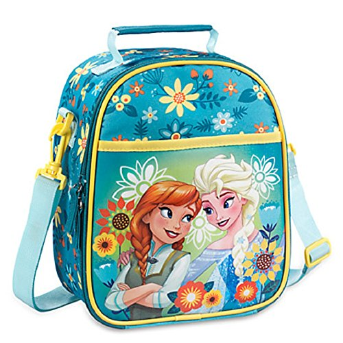 Disney Store Frozen Fever Elsa Anna Lunch Box Bag Tote School Teal New 2016