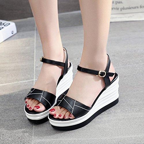Sandalias mujer Zapatos de KPHY Pendiente Los Estudiantes De Mujeres white Tacones Hebillas Pretty qnYTqWtR
