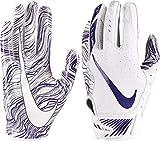 Nike Adult Vapor Jet 5.0 Receiver Gloves 2018 (White/Purple, Small)