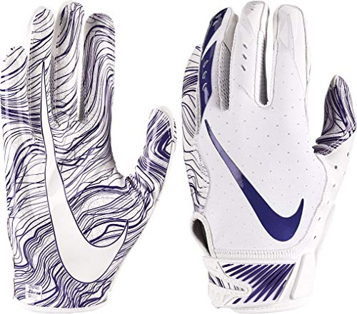 Nike Adult Vapor Jet 5.0 Receiver Gloves 2018 (L, White/Purple)