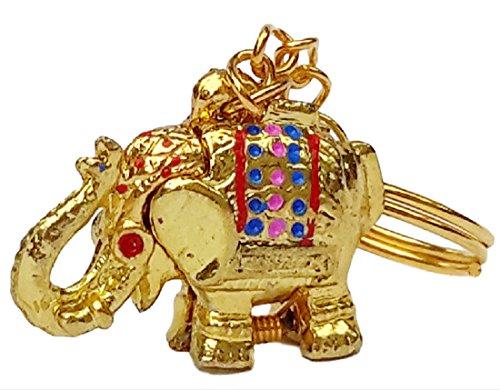 Price comparison product image Super Lucky Elephant Keychain Key Ring Secret Hidden Pill Box Locket Gold