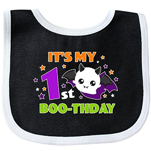 Inktastic - Its My 1st Boothday with Ghost Baby Bib Black/White 2d2b8 -